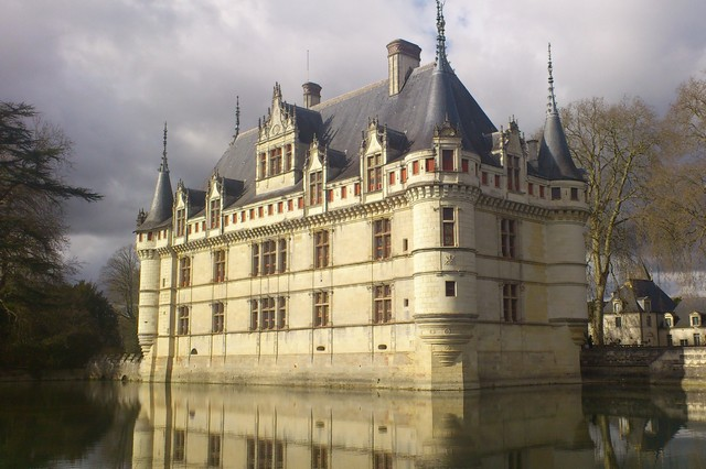 Castle of Azay Le Rideau in the Loire Valley