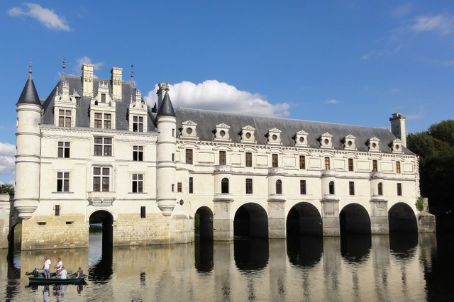 Castle of Chenonceau in Indre and Loire