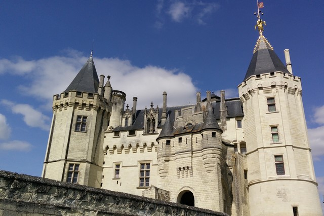 Castle of Saumur medieval city in Anjou
